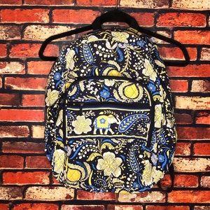 "20""X 18"" Yellow & Blue Vera Bradley Backpack"